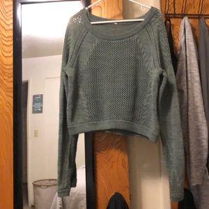 Lululemon Green Crop Sweater 🔥